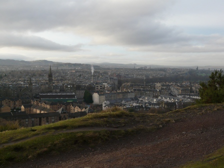 The view from Hutton's Rock: Edinburgh.