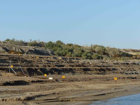 recently-exposed-land-at-dead-sea-with-mines
