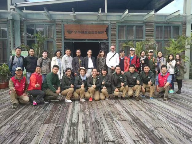 With some of our hosts and colleagues, at OCT wetlands nature center in Shenzhen.